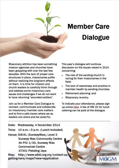 Missionary/Member Care Dialogue, 4 Nov2015