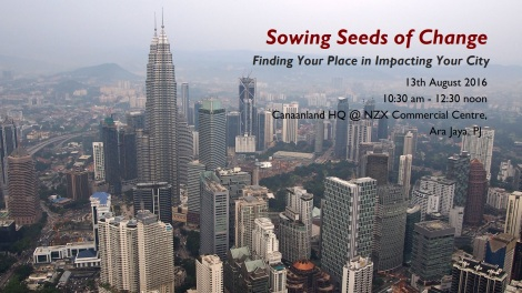 Sowing Seeds of Change, 13 August 2016